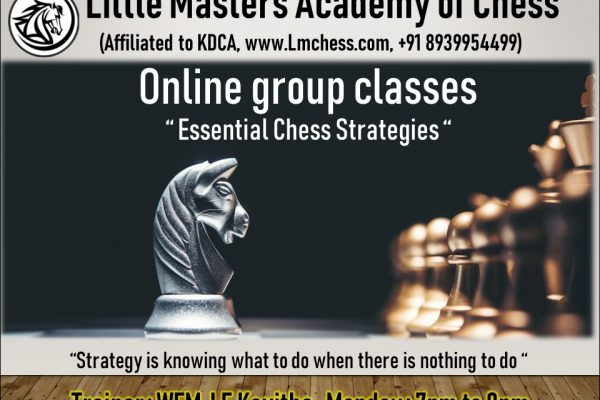 Online Group Classes – Essential Chess Strategies